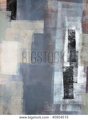 Vert et gris art abstrait peinture