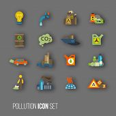 Pollution symbol set