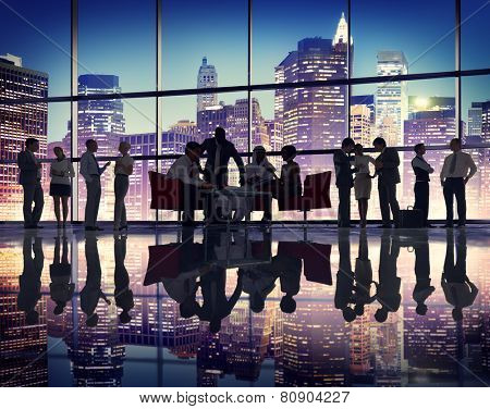 Business People Meeting Corporate Office Buildings Working Concept