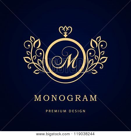 Monogram design elements graceful template elegant line art logo monogram design elements graceful template elegant line art logo design business sign identity for restaurant royalty boutique cafe hotel heraldic cheaphphosting Images