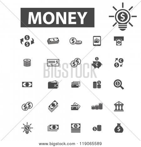 cash icons, cash logo, money icons vector, money flat illustration concept, money infographics elements isolated on white background, money logo, money symbols set, coin, dollar, banknotes, currency stock photo