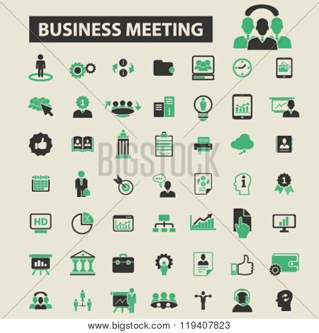 business meeting icons, business meeting logo, business meeting vector, business meeting flat illust
