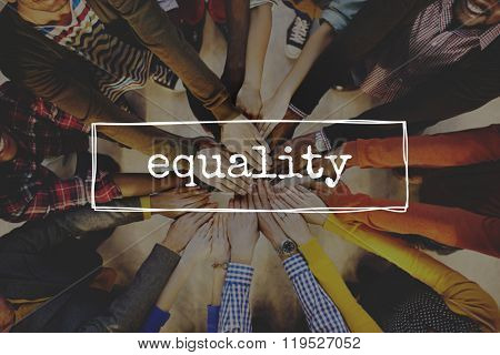 Equality Fairness Equal Justice Rights Concept stock photo