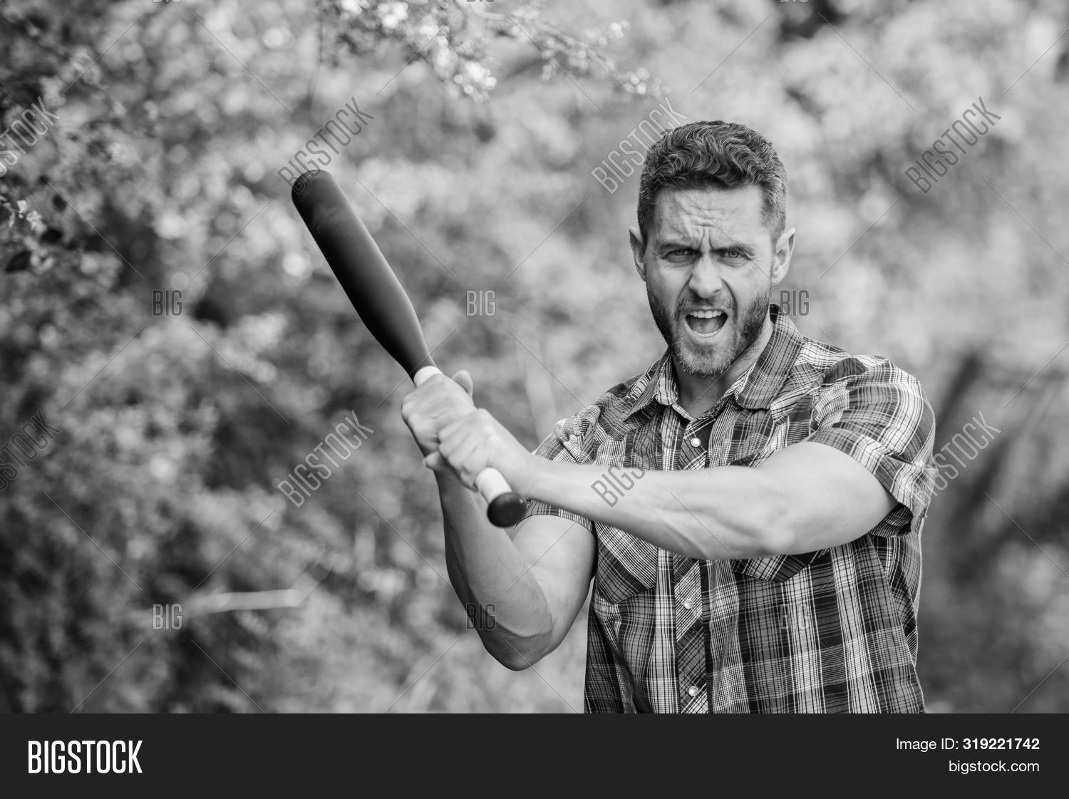 adult,aggression,anger,attack,baseball,bat,beard,bearded,black,bully,caucasian,concept,confident,crime,criminal,cudgel,danger,dangerous,energy,face,fashion,feel,guy,handsome,his,hold,hooligan,male,man,my,nature,power,practice,principle,recreation,sport,strength,strict,strong,temper,unshaven,violence,weapon,wild,workout