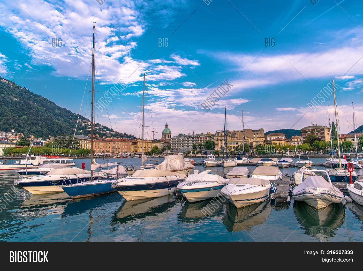 City Of Como In Northern Italy