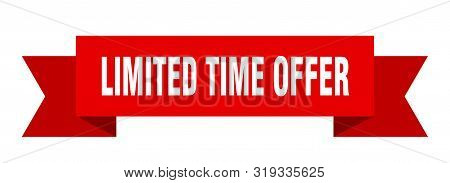 limited time offer ribbon. limited time offer isolated sign. limited time offer banner stock photo