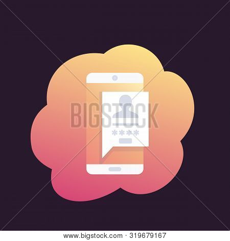 login, authentication, mobile password access, eps 10 file, easy to edit stock photo