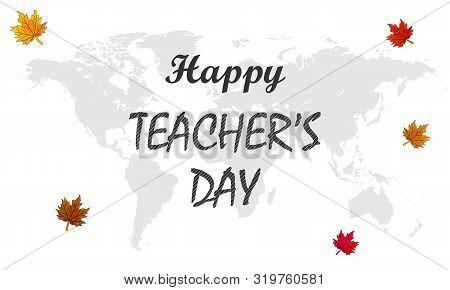 International Teacher Day, Vector Art Illustration Banner.