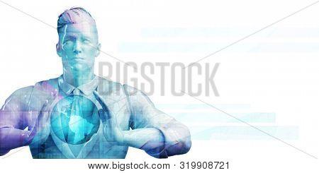 Worldwide Marketing Platform for Advertizing Industry Concept 3d Render stock photo