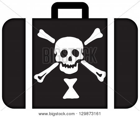 Emanuel Wynn Pirate Flag. Suitcase icon travel and transportation concept stock photo