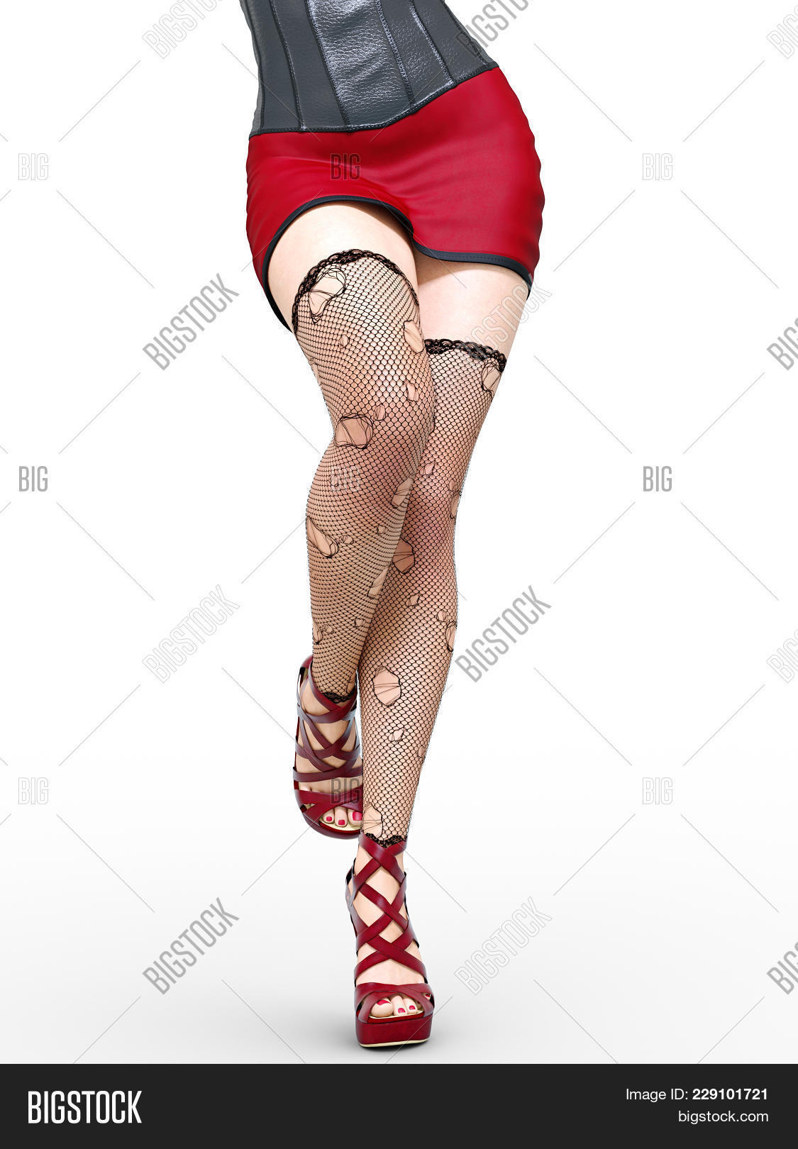 Matchless Sexy legs short skirts high heels have removed
