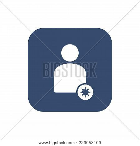 Add new user account flat icon for apps. Vector illustration stock photo