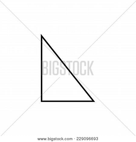 right triangle icon. Geometric figure Element for mobile concept and web apps. Thin line  icon for website design and development, app development. Premium icon on white background on white background stock photo