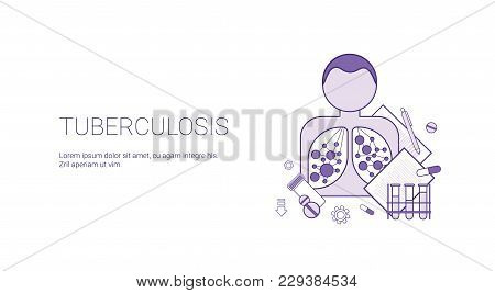 Tuberculosis Disease Heathcare And Medicine Concept Template Web Banner With Copy Space Vector Illustration stock photo