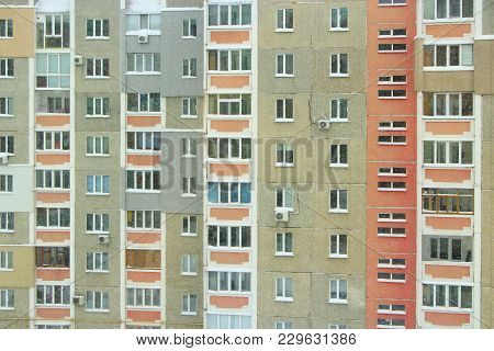 Modern multi-storey and apartment house. Modern building. Architecture of modern multistorey house stock photo