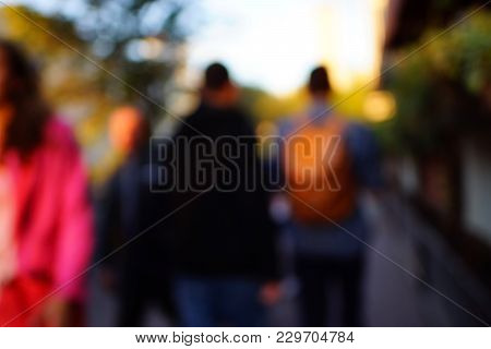 Large crowd of people watching concert or sport event stock photo