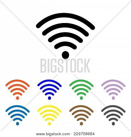 Wifi icon Vector. Signal icon vector. Wireless icon vector. Internet icon stock photo