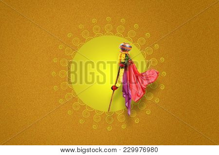 Happy Gudi Padwa Marathi New Year , Indian Festival Gudi padwa stock photo