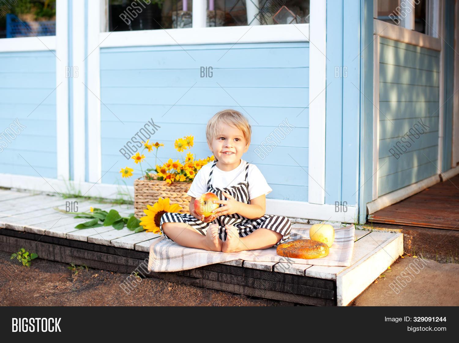 apple,autumn,baby,bagel,blue,boy,bread,breakfast,bun,casual,caucasian,child,childcare,childhood,country,countryside,farmer,farming,flower,food,fruit,garden,harvest,health,holiday,home,house,kid,kindergarten,lifestyle,little,morning,nature,nutrition,one,organic,outdoor,outside,people,picnic,play,porch,portrait,rustic,season,summer,toddler,village,white,young
