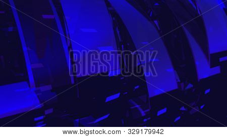 Computer generated modern abstract background of 3d glass rings. 3D rendering corporate and broadcast animation for TV commercials, broadcasts, show backgrounds stock photo