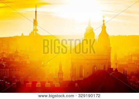 Lesser Town (UNESCO), Prague, Czech republic in the sunny morning stock photo