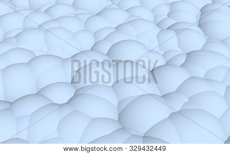 3d rendering picture of blue balls. Abstract wallpaper and background. 3D illustration stock photo