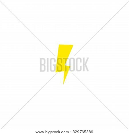 Flash and lightning icon. Thunderstorm bolt sign. Thunderbolt and electricity symbol. stock photo