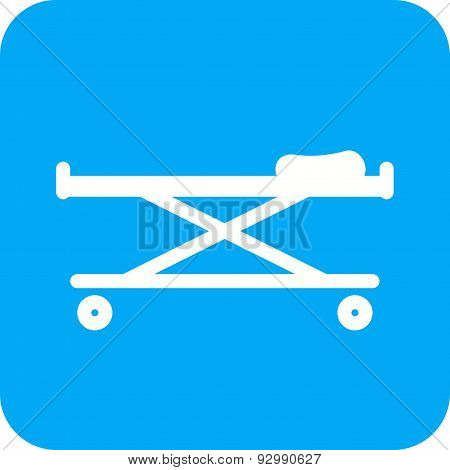 stretcher, bed, rescue icon vector image. Can also be used for healthcare and medical. Suitable for mobile apps, web apps and print media. stock photo