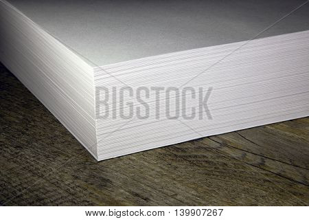a stack of white paper for the printer stock photo