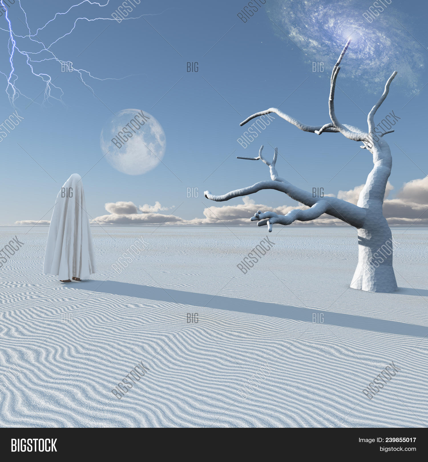 3d rendering,abstract,alone,art,bizarre,branch,burka,cloak,cloth,dead,death,desert,dramatic,dream,dune,eerie,environment,fantasy,fear,galaxy,ghost,god,hijab,landscape,lightning,lonely,moon,muslim,mysterious,nature,nothing,phantom,planet,sand,sandy,silhouette,sky,spirit,spooky,strange,surreal,surrealism,time,travel,tree,unknown,unreal,white,zen