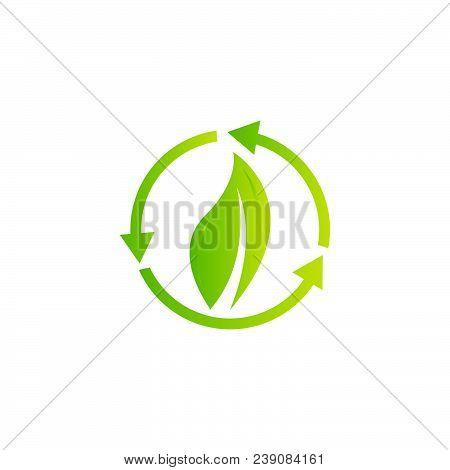 Bio energy vector illustration. Minimal bioenergy or green eco energy banner on white background stock photo
