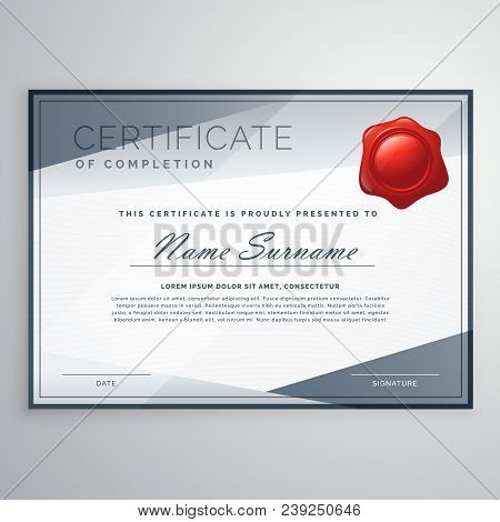 modern certificate vector design with abstract shapes stock photo