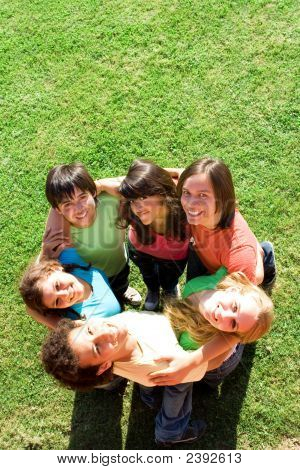 happy diverse group multi racial or mixed race friends diversity stock photo