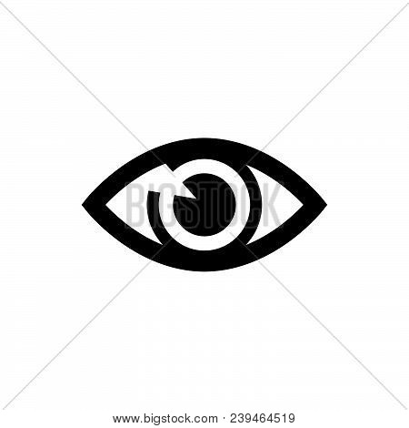 Eye icon vector in modern flat style for web, graphic and mobile design. Eye icon vector isolated on white background. Eye icon vector illustration, editable stroke and EPS10. Eye icon vector simple symbol for app, logo, UI. stock photo