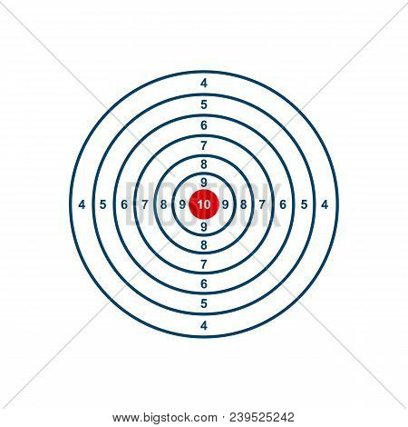 Blank Template For Sport Target Shooting Competition Clean