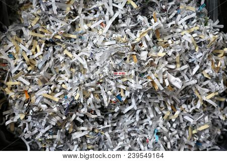 2016 US Government presidential candidate secrets shredded to keep the truth from being exposed.  stock photo