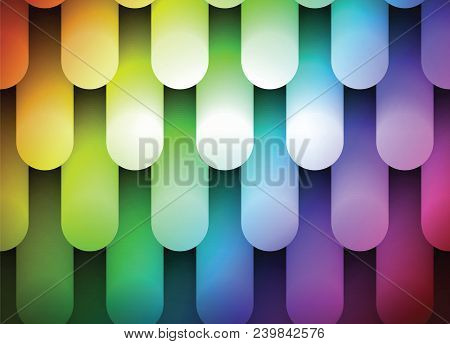 Iridescent glowing background, festive background with halogen lamps, modern technology illustration stock photo