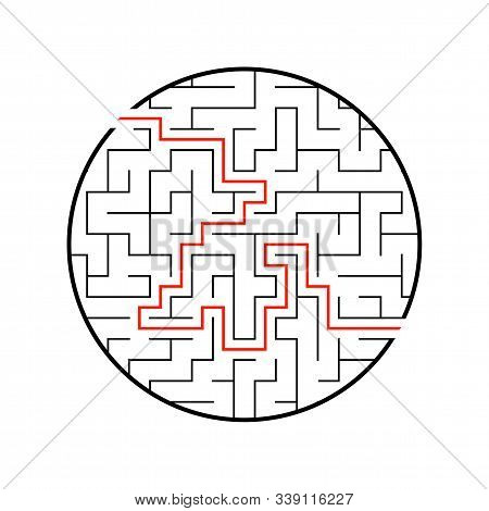 Abstract labyrinth. Game for kids. Puzzle for children. Maze conundrum. Vector illustration stock photo