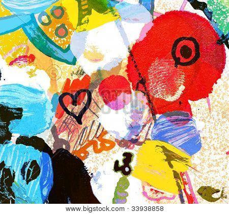 Abstract collage de graffiti, peinture numérique