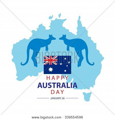Australia Day. 26 January Happy Australia Day. Greeting card. stock photo