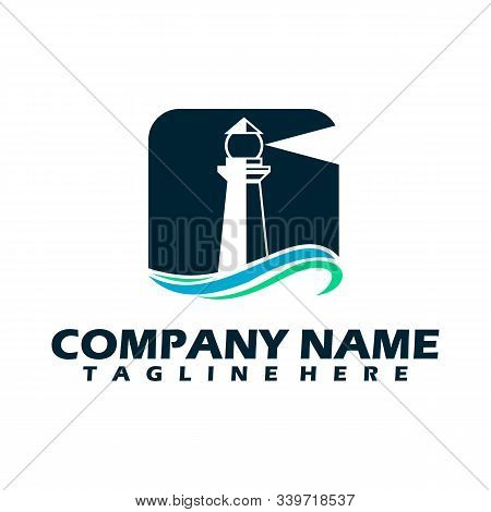 Lighthouse Logo, lighthouse icon in trendy design style. lighthouse icon isolated on white background. lighthouse vector icon simple and modern flat symbol for web site, mobile, logo, app, UI. lighthouse icon vector illustration, EPS10. stock photo
