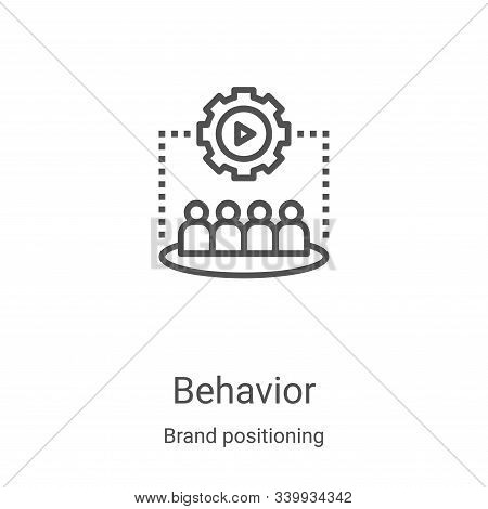 behavior icon vector from brand positioning collection. Thin line behavior outline icon vector illustration. Linear symbol for use on web and mobile apps, logo, print media stock photo