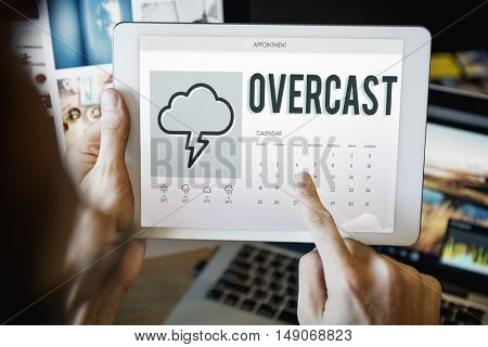 Forecast Overcast Weather Report Concept stock photo