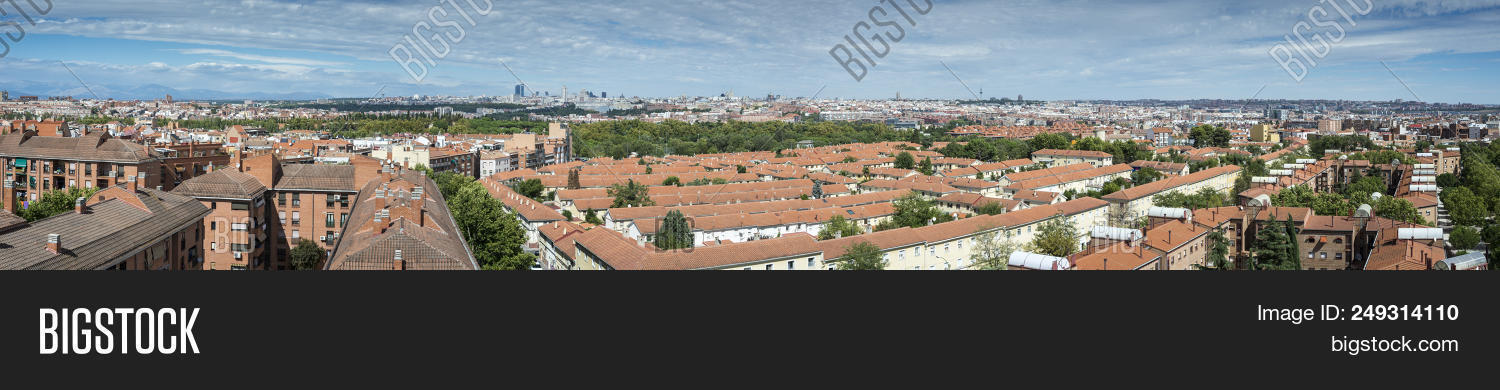 Views of Madrid City, Spain, from Carabanchel district. It is in the south western suburbs of Madrid
