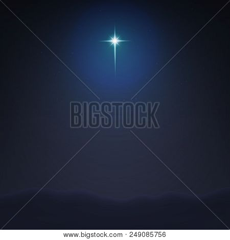 Stock vector illustration Bethlehem Star minimalistic background. The Birth of Jesus Christ. EPS 10 stock photo
