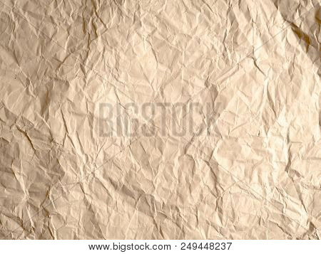 white crumpled paper texture background, brown recycle crumpled paper for background : crease of brown paper textures backgrounds for design, decorative. paper textures concept. stock photo