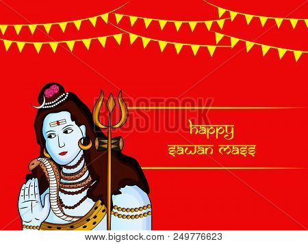🔥 Illustration Of Hindu God Shiva With Happy Sawan Mass