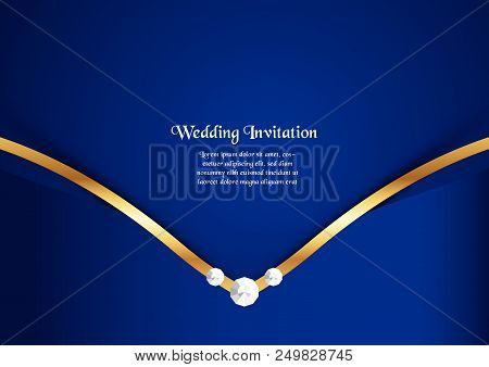 Abstract blue background in premium concept with copy space.Template design for cover, business presentation, web banner, wedding invitation and luxury packaging. stock photo