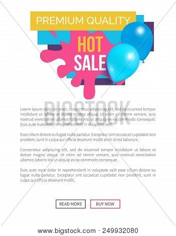 Premium quality total sale hot prices promo sticker with blue balloons and brush splashes web online poster, tag advertisement label flying elements stock photo