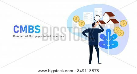 Commercial mortgage-backed securities CMBS are a type of mortgage-backed security backed by commercial mortgages rather than residential real estate stock photo